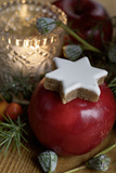 Christmas Table Decoration, Apple, Cinnamon Star Photographic Print by Manuela Balck