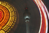 Germany, Berlin, Television Tower, Ferris Wheel, Night Photographic Print by Catharina Lux