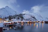 Nusfjord, Flakstadoya (Island), Lofoten, 'Nordland' (County), Norway Photographic Print by Rainer Mirau