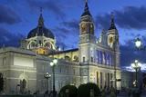 Spain, Madrid, Cathedral Nuestra Senora De Alpudena, Twilight Photographic Print by Chris Seba