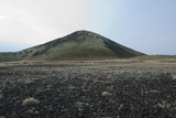 Lava Fields and Hill, Route 574, Neshraun, Saxholar, Snaefellsnes, West Iceland Photographic Print by Julia Wellner
