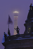Germany, Berlin, Bodemuseum and Television Tower, Dusk Photographic Print by Andreas Keil