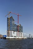 Construction Site at the Elbphilharmonie in Hamburg, Germany, Europe Photographic Print by Axel Schmies