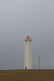 Lighthouse Gardskagi, Reykjanes Peninsula, South West Iceland Photographic Print by Julia Wellner