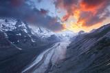Glacier, Sundown, Grossgcastlener, Hohe Tauern, Alps, Austria Photographic Print by Dave Derbis