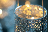 Candle in Metal Vessel Photographic Print by Alexander Georgiadis