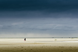 Germany, Schleswig-Holstein, Amrum, Sandy Beach, Sandbank, Kniepsand, Stroller Photographic Print by Ingo Boelter