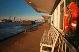 Pontoon Jetties in the Port of Hamburg (City) Photographic Print by Thomas Ebelt
