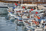 Asia, Turkey, Antalya, Harbour, Ships Photographic Print by Harald Schšn