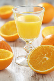 Fresh Pressed Orange Juice and Oranges Photographic Print by Jana Ihle