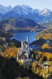 Germany, Bavaria, AllgŠu, Neuschwanstein Castle Photographic Print by Herbert Kehrer