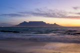 South Africa, Cape Town, Table Mountain During the Blue Hour Fotografisk tryk af Catharina Lux