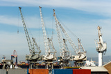 South Africa, Cape Town, Port Cranes Photographic Print by Catharina Lux