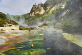 Hot Springs, Waimangu Volcanic Valley, Rotorua, Bay of Plenty, North Island, New Zealand Photographic Print by Rainer Mirau