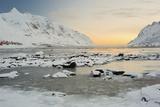Indre Skjelfjorden, Flakstadoya (Island), Lofoten, 'Nordland' (County), Norway Photographic Print by Rainer Mirau