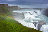 Gullfoss - Golden Waterfall Photographic Print by Catharina Lux