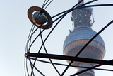Berlin, Alexanderplatz, World Time Clock, Television Tower, Detail Photographic Print by Catharina Lux