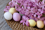 Hyacinth Blossoms and Easter Eggs Photographic Print by Andrea Haase