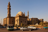 Egypt, Cairo, Mosque-Madrassa of Sultan Hassan, Traffic Photographic Print by Catharina Lux