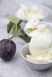 Sundae with Vanilla Ice-Cream, Close-Up Photographic Print by Manuela Balck