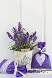Lavender, Blossoms, Fragrance Sachets, Flowerpot Photographic Print by Andrea Haase