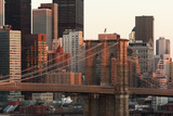 USA, New York City, Manhattan, Brooklyn Bridge, View from Brooklyn, Morning Photographic Print by Catharina Lux