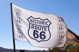 USA, Arizona, Route 66, Hackberry, Flag Photographic Print by Catharina Lux