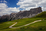 Summer, Mountain Pass, Passo Giau, Alps, Dolomites, Belluno, Italy Photographic Print by Dave Derbis