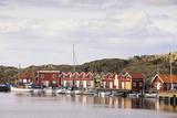 Sweden, BohuslŠn, Fishing Settlement RšnnŠng, Harbour, Boats, Houses Photographic Print by Frank Lukasseck