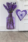 Lavender, Blossoms, Vase, Heart Photographic Print by Andrea Haase