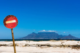 South Africa, Cape Town, Table Mountain, Rusted Sign Photographic Print by Catharina Lux