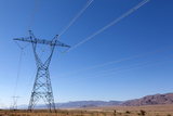 USA, Arizona, Route 66, Wide Landscape, Power Pole Photographic Print by Catharina Lux