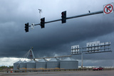 USA, Wyoming, Highway, Storm Clouds Photographic Print by Catharina Lux