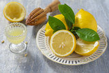 Lemons, Citrus-Press and Juice Photographic Print by Jana Ihle