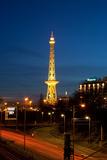 Berlin, Radio Tower, City Highway, Night Photographic Print by Catharina Lux