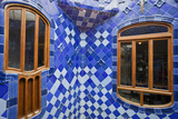 Spain, Catalonia, Barcelona, Casa Battlo, Patio Photographic Print by Rainer Mirau