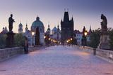 Czechia, Prague, Charles Bridge Photographic Print by Rainer Mirau