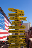 USA, Arizona, Historical Route 66, Seligman, Signpost Photographic Print by Catharina Lux