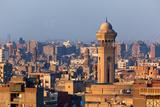 Egypt, Cairo, Al Azhar Park Cairo, Mosque-Madrassa of Sultan Hassan in Backlight Photographic Print by Catharina Lux