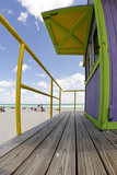 Beach Lifeguard Tower '12 St', in Art Deco Style, Miami South Beach Photographic Print by Axel Schmies