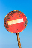 South Africa, Rusted Prohibition Sign Photographic Print by Catharina Lux