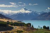Lake Pukaki, Aoraki, Mount Cook National Park, Canterbury, South Island, New Zealand Photographic Print by Rainer Mirau