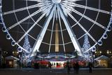France, Paris, Ile De France, Tuileries, Place De La Concorde, Ferris Wheel, Detail, Evening Photographic Print by Rainer Mirau