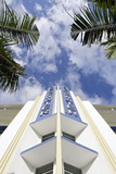 Breakwater Hotel, Facade, Art Deco Hotel, Ocean Drive, South Miami Beach Photographic Print by Axel Schmies