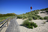 Wooden Path to 'Unterfeuer' at the Hšrnum Odde in Front of the Island of Sylt Built in 1980 Photographic Print by Uwe Steffens