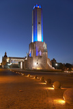 Argentina, Rosario, National Monument, 'Monumento De La Bandera', Lighting, Evening Photographic Print by Chris Seba