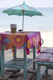 Piece of Furniture, Screen, Brightly, Beach Bar, Thailand, Beach Photographic Print by Andrea Haase