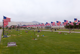 USA, Cemetery, Memorial-Day, Flags Photographic Print by Catharina Lux