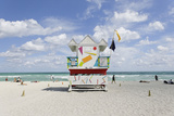 Beach Lifeguard Tower '6 St', Typical Art Deco Design, Miami South Beach Photographic Print by Axel Schmies