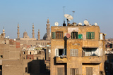 Egypt, Cairo, View from Mosque of Ibn Tulun on Old Town Facades Photographic Print by Catharina Lux